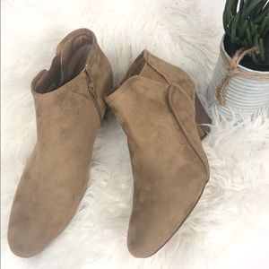 Tan ankle booties size 11